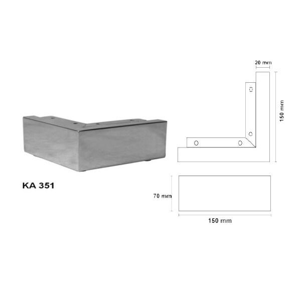 Nábytková noha KA351