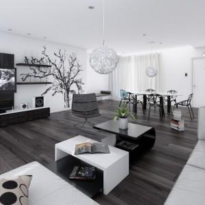 Oblečte obývačku do čiernej a bielej