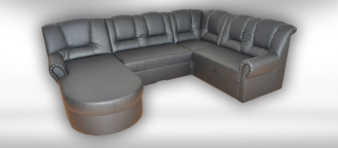 Kožená sedačka v tvare U Begard od slovenského výrobcu