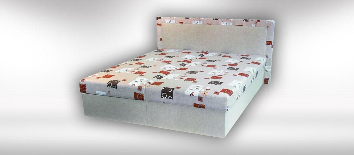 Manželská posteľ s úložným priestorom Lucia