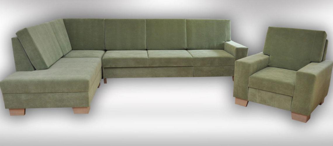 Rohová sedačka Putten s miestom na spanie