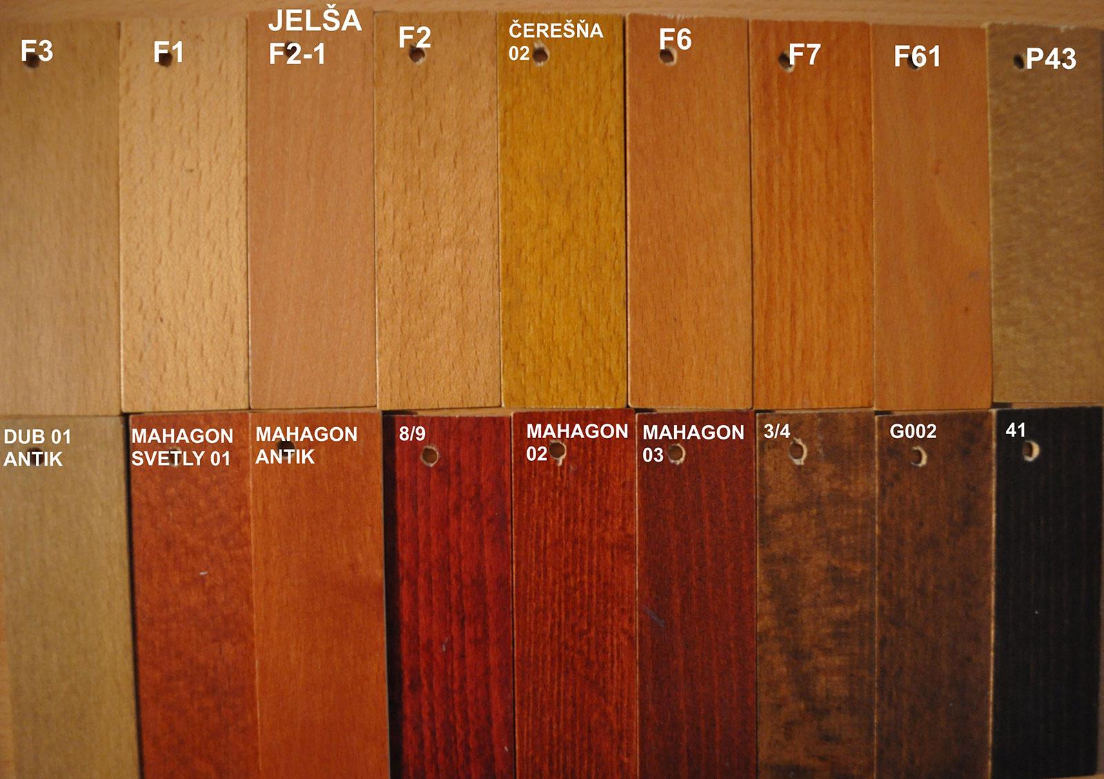 vzorkovník drevených častí